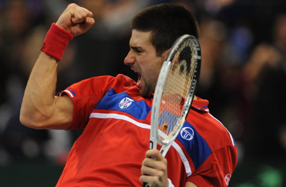 Novak Djokovic helped Serbia to a thrilling first Davis Cup title, beating France 3-2 in the final. (AFP/Getty Images)