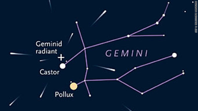 Monday night offers best viewing of Geminid meteor shower