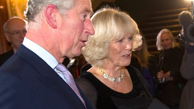 Protesters attack car carrying Prince Charles and Camilla