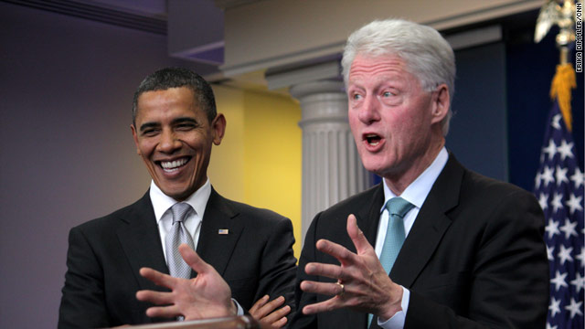 Bill Clinton takes over WH podium