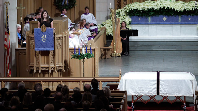 More than 1,200 at Edwards funeral; protest fizzles