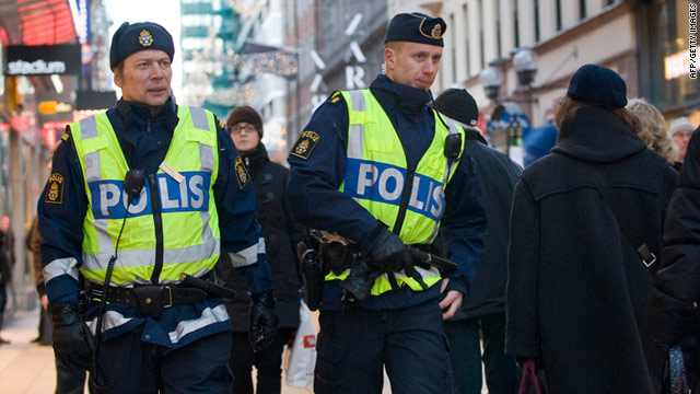 Swedish officials condemn 'terrorism' blasts in shopping district