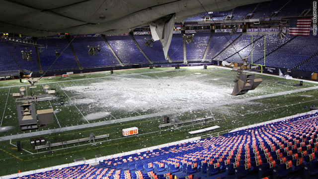 Snowstorm heads east after delaying travel and 'deflating' Metrodome