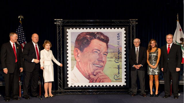 Reagan receives centennial stamp