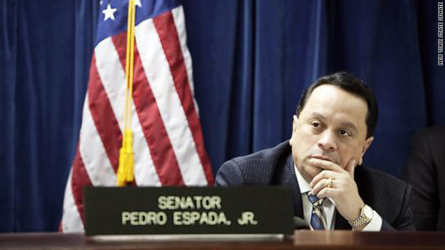N.Y. state senator, son, accused of embezzlement