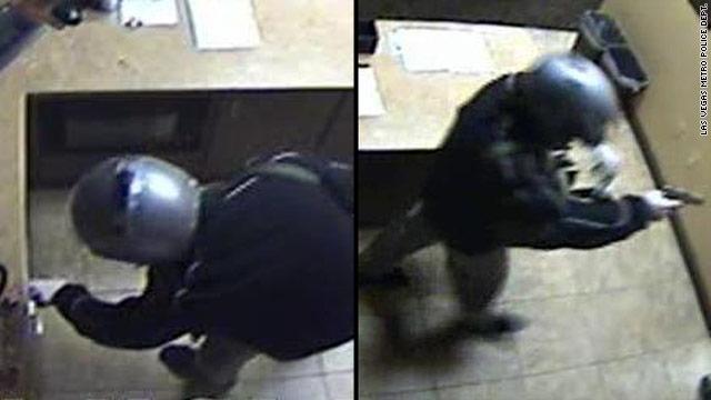 Gunman in helmet robs Bellagio casino