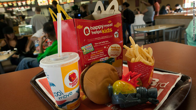 Woman sues McDonald's over Happy Meals