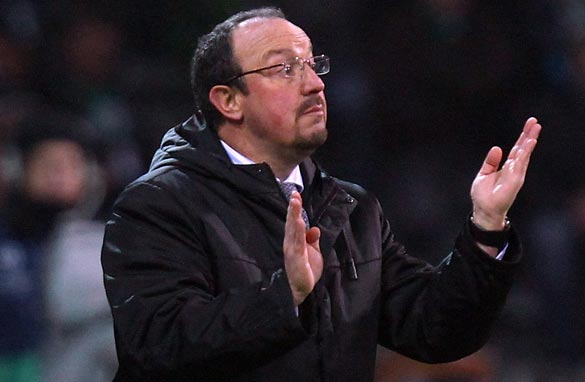 Rafael Benitez faces losing his job at Inter Milan after only six months in charge. (Bongarts/Getty Images)