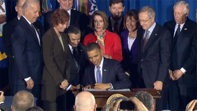 "President signs bill to repeal military's ""don't ask, don't tell"" policy"