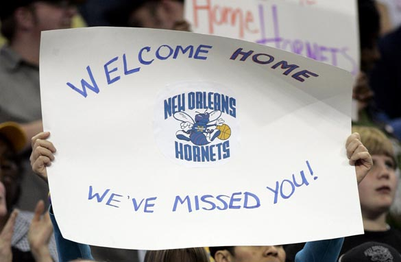 Will New Orleans be able to keep the Hornets basketball franchise in the city? (Getty Images)