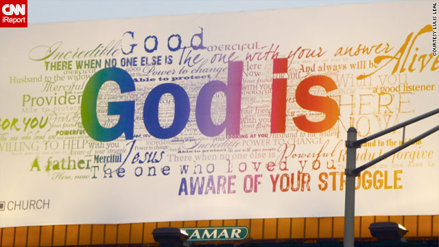 'God is' billboard replaces controversial Lincoln Tunnel atheist sign