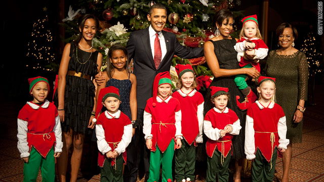 First family's Christmas dinner menu