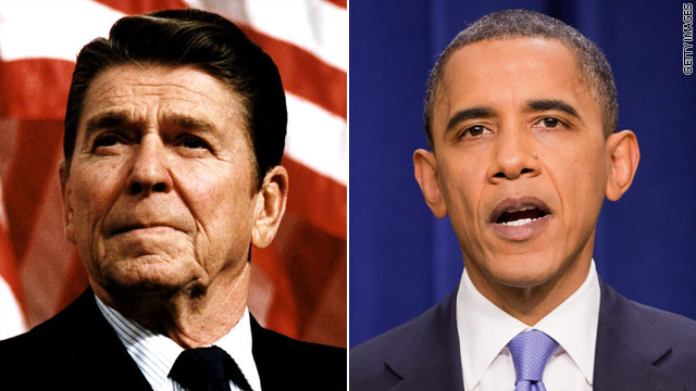 Obama looks to Reagan