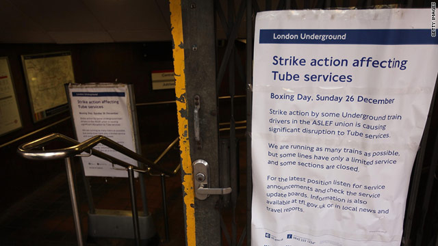 London train drivers go on strike over pay