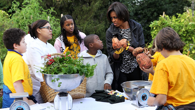 First lady: Let's work together to reverse childhood obesity