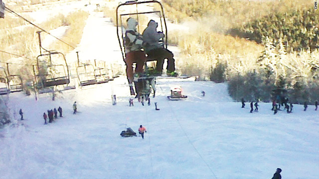 Skiers fall from chairlift at Maine resort