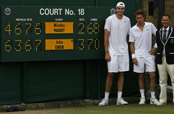 This year, John Isner and Nicolas Mahut battled out the longest match in tennis history.