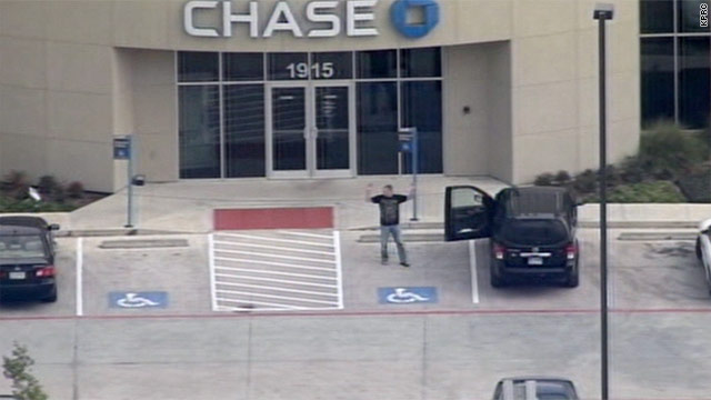 Police: Texas bank standoff over, hostages safe