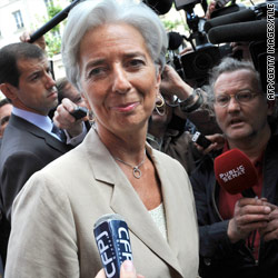 Lagarde to take helm at IMF