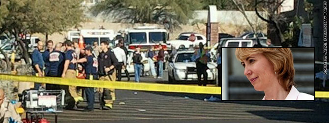 Congresswoman among 12 shot at grocery (Image: CNN)