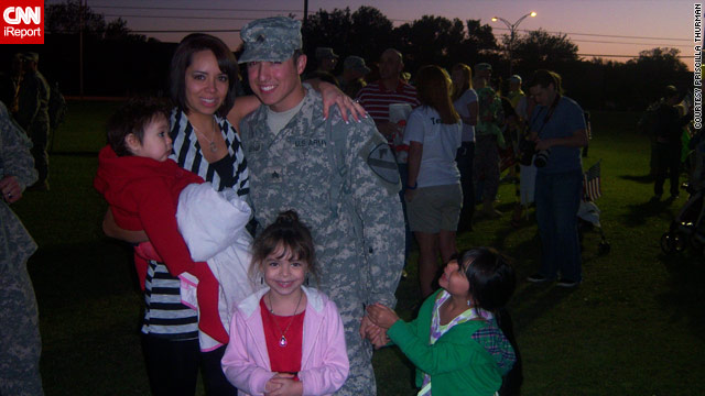 Priscilla Thurman, with her husband, Sgt. Shawn Thurman, and kids, says she's concerned about his upcoming deployment.