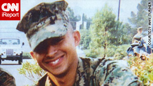 Leroy Sandoval while he was at Camp Pendleton's School of Infantry.