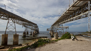 Giant conveyers were built to carry Nauru's phosphate out to transport ships.