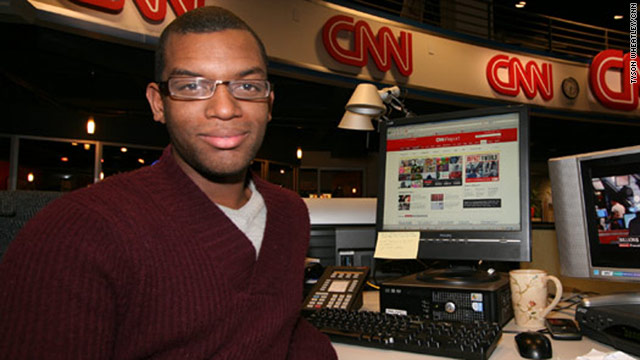 iReporter Jordan Sarver interned with the CNN iReport team in 2010. He now works at an Atlanta TV station.