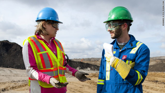 "CNN.com's John D. Sutter interviews Suncor's Anne Marie Toutant in Canada's ""oil sands"" region, where companies mine for oil."