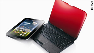 This Lenovo device is both a laptop and a detachable touchscreen tablet.