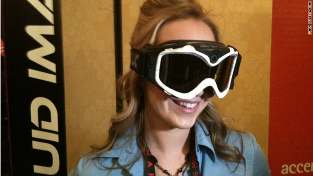 Among the gadgets shown at pre-CES events is these ski goggles that have a built-in HD camera.