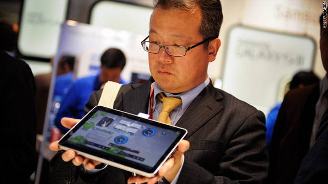 The Galaxy Tab 10.1 from Samsung Electronics is one of many widescreen tablets poised to flood the market.
