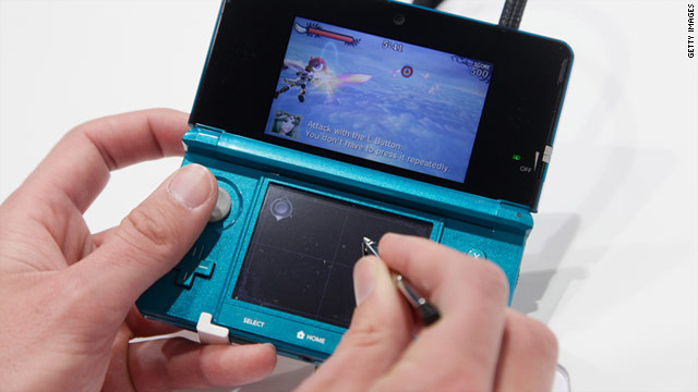 Nintendo 3DS, a glasses-free 3-D handheld video game system, arrives March 27 for $249.99.