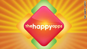 """The Happy Apps"" is available for the iPhone and iPad for $1.99 starting Friday."