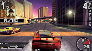 """Ridge Racer 3D"" puts you behind the wheel for high-speed racing thrills."