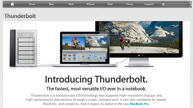 Apple's new speedy interconnect protocol Thunderbolt will be added to the company's line of Macs.