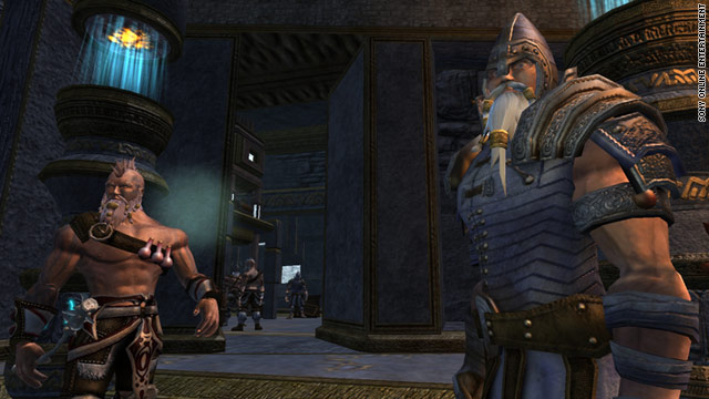 "Sony Online Entertainment, which manages the ""EverQuest"" series, shut down its online services due to a far-reaching hack."
