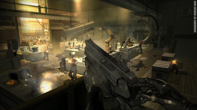 "In ""Deus Ex: Human Revolution,"" players must use biomechanical implants to gain superhuman abilities."