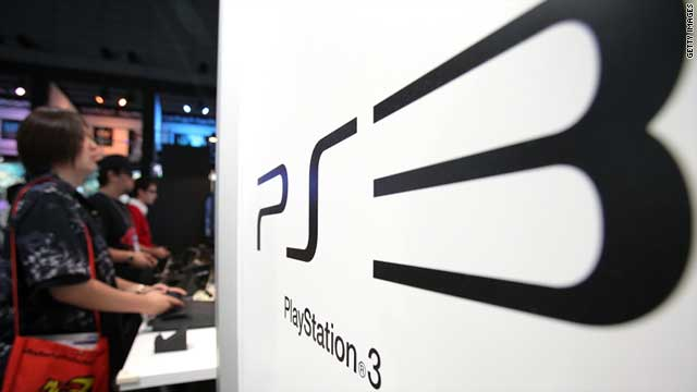 Visitors play video games on Sony's PlayStation 3 consoles during the Tokyo Game Show 2010.