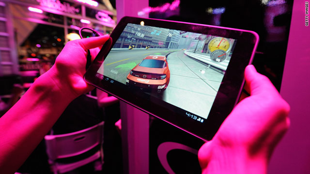 Mobile gaming -- shown here on a tablet -- was among the trends at the E3 Expo in Los Angeles this week.