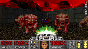 """Doom"" was the first time many people had seen a first-person shooter game."