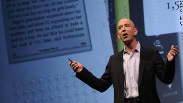 Amazon CEO Jeff Bezos hasn't exactly doused rumors that his company is making a touchscreen tablet computer.