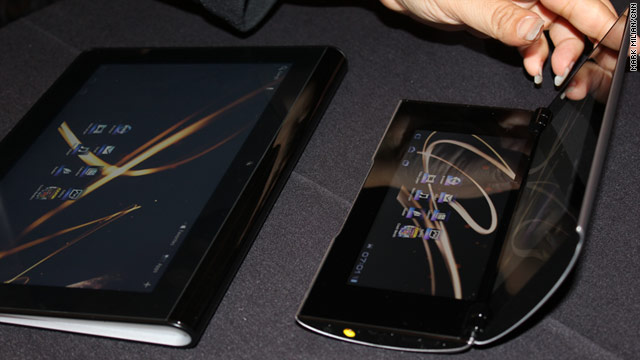 Sony's S1, left, and S2 tablets are slated to be released this fall.