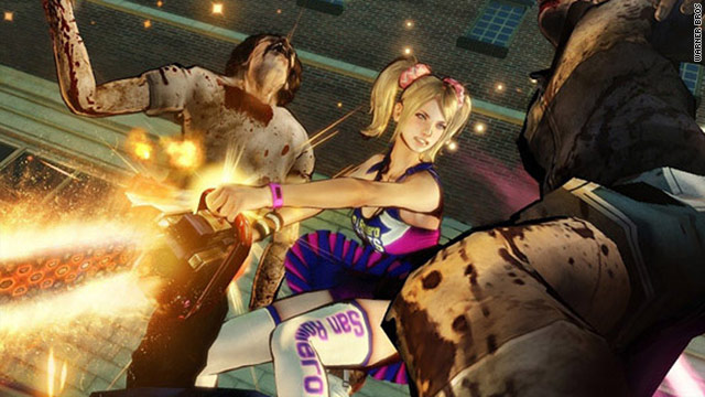 &quot;Lollipop Chainsaw&quot; blends cheerleaders with zombies in a truly different third-person action game.