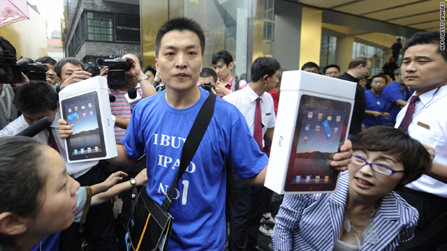 Apple operates four stores in China, which is becoming an important market for Apple but also a haven for counterfeit goods.