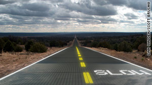 Solar 'smart' highways could zap snow, ice