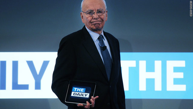 Launched on Wednesday, 'The Daily' is the first iPad-only news magazine.