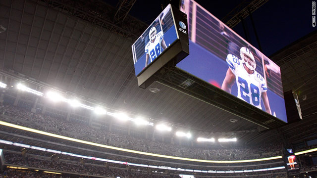 Cowboys Stadium's 600-ton, $40 million high-definition video screen might be the Super Bowl's most visible piece of technology.
