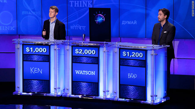 "IBM held a practice round for its Watson computer, which will compete against people in an upcoming ""Jeopardy!"" episode."