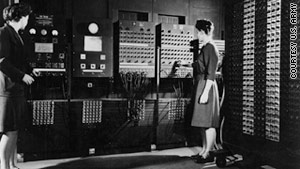Jean Jennings Bartik and Frances Bilas Spence prepared to unveil ENIAC in 1946.